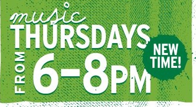Music Thursdays 6-8 pm at Cafe Verde