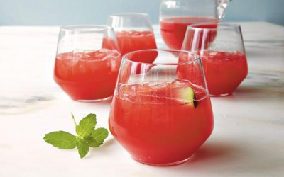 Watermelon-Strawberry Lime Cooler