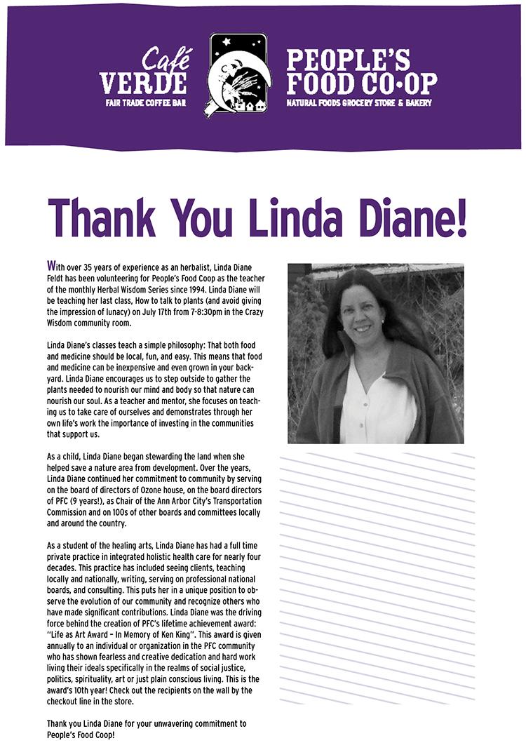 Linda Diane Anouncement
