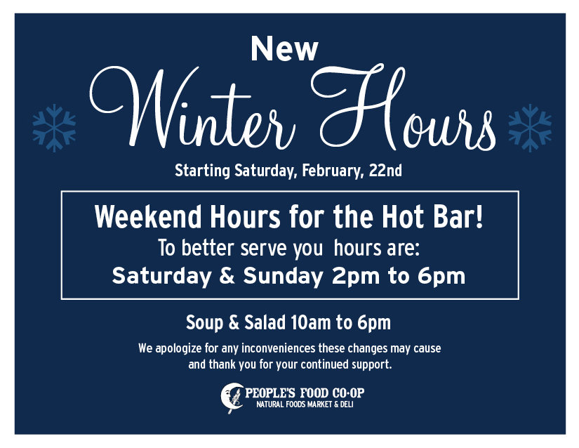 Winter Hotbar Hours