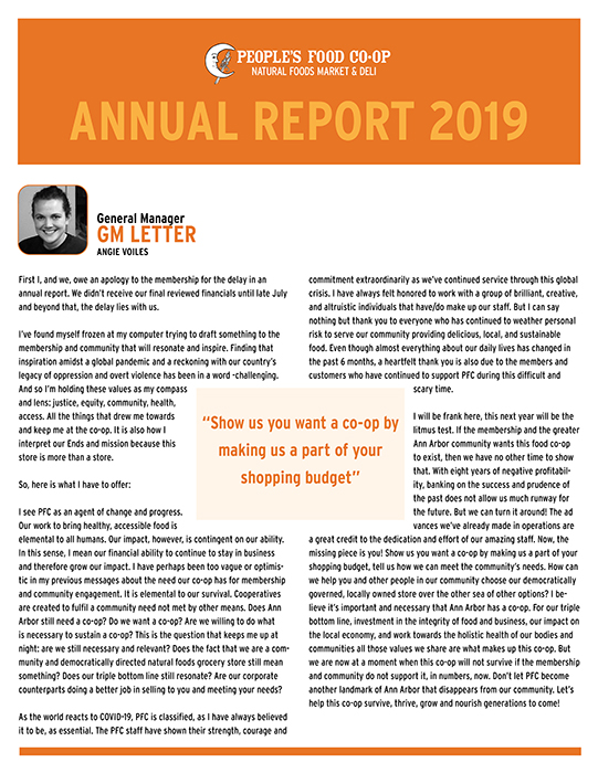 Co-op Annual Report 2019