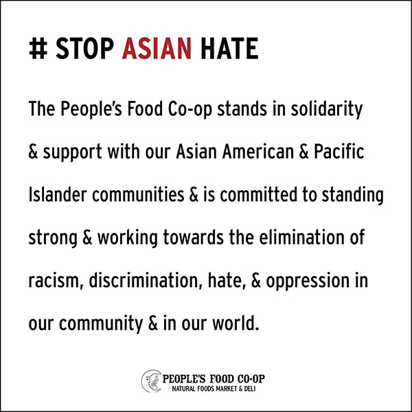 Stop Asian Hate Statment