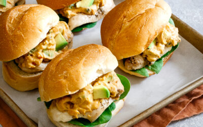 Avocado Hummus Chicken Sliders