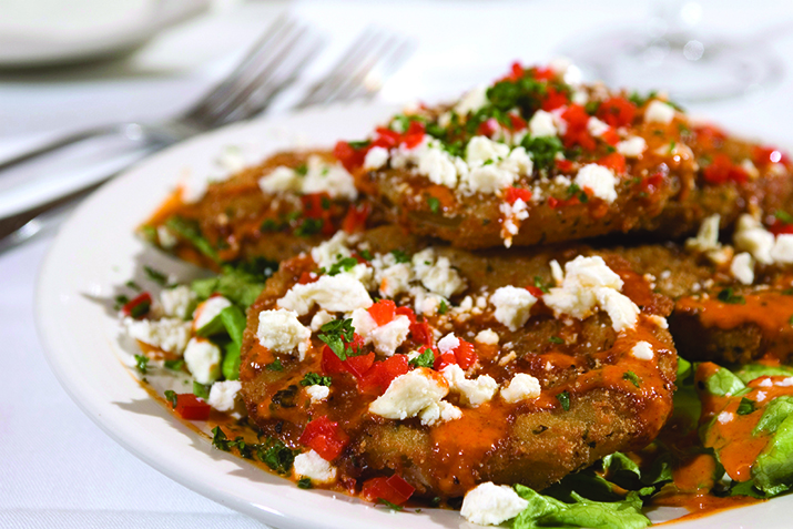 Fried Green Tomatoes with Pink Chili Sauce